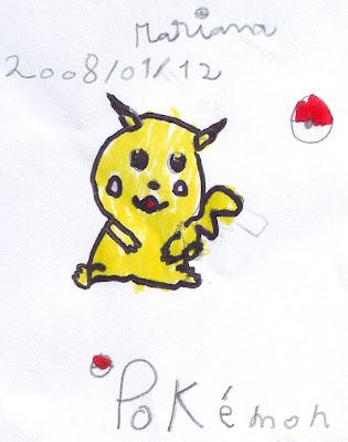 Desenho do Pikachu (ピカチュウ)