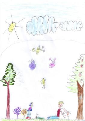 Desenho Infantil: Primavera