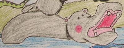 desenho de um hipopótamo
