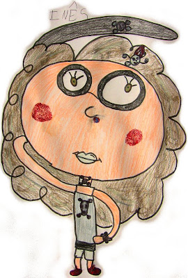 desenho de uma menina gótica