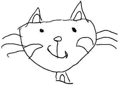 desenho de um gato para pintar