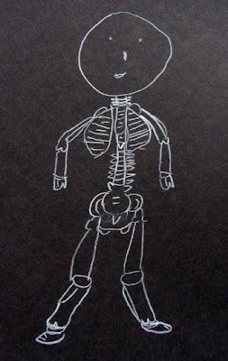 Desenho de um esqueleto.