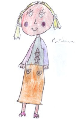 Desenho de menina