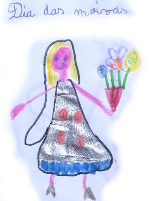 Desenho de uma noiva