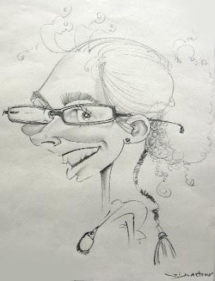 Caricatura da Inês, por Rui Duarte