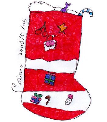 Desenho de uma Meia de Natal