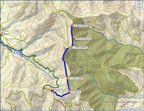 Cálculos en mapas topográficos