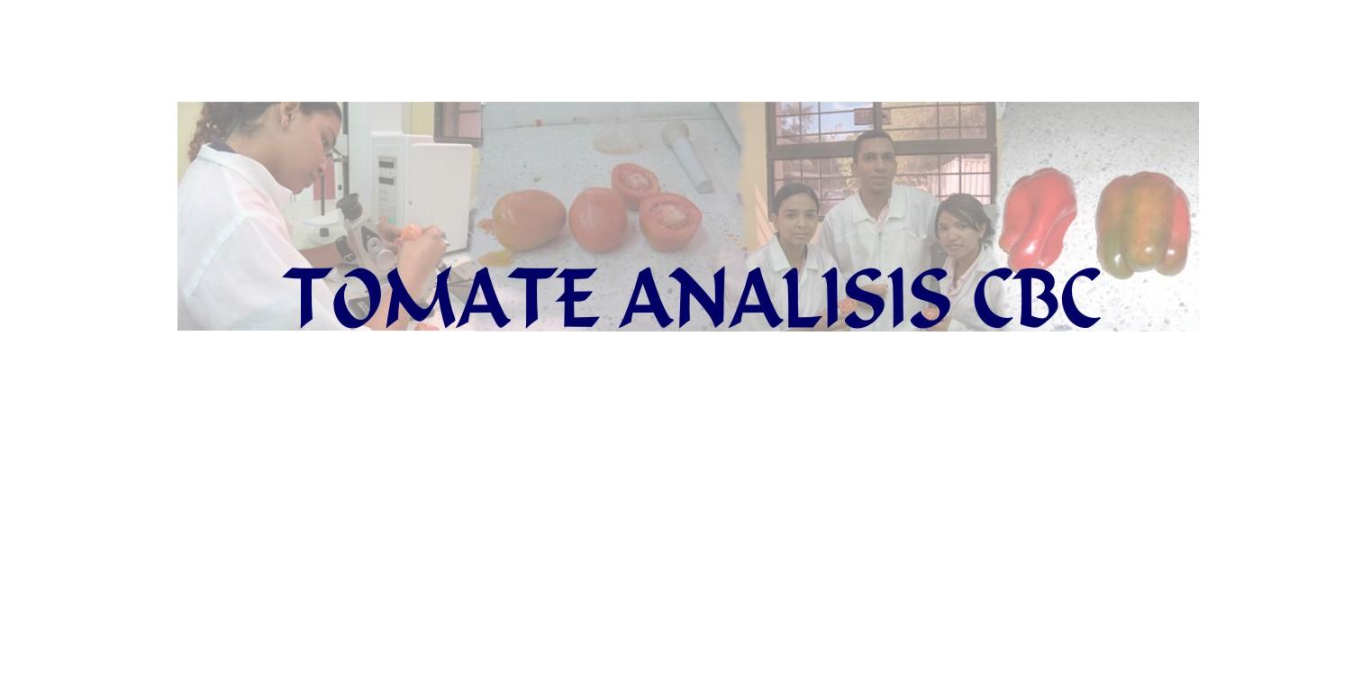Tomate Analisis CBC