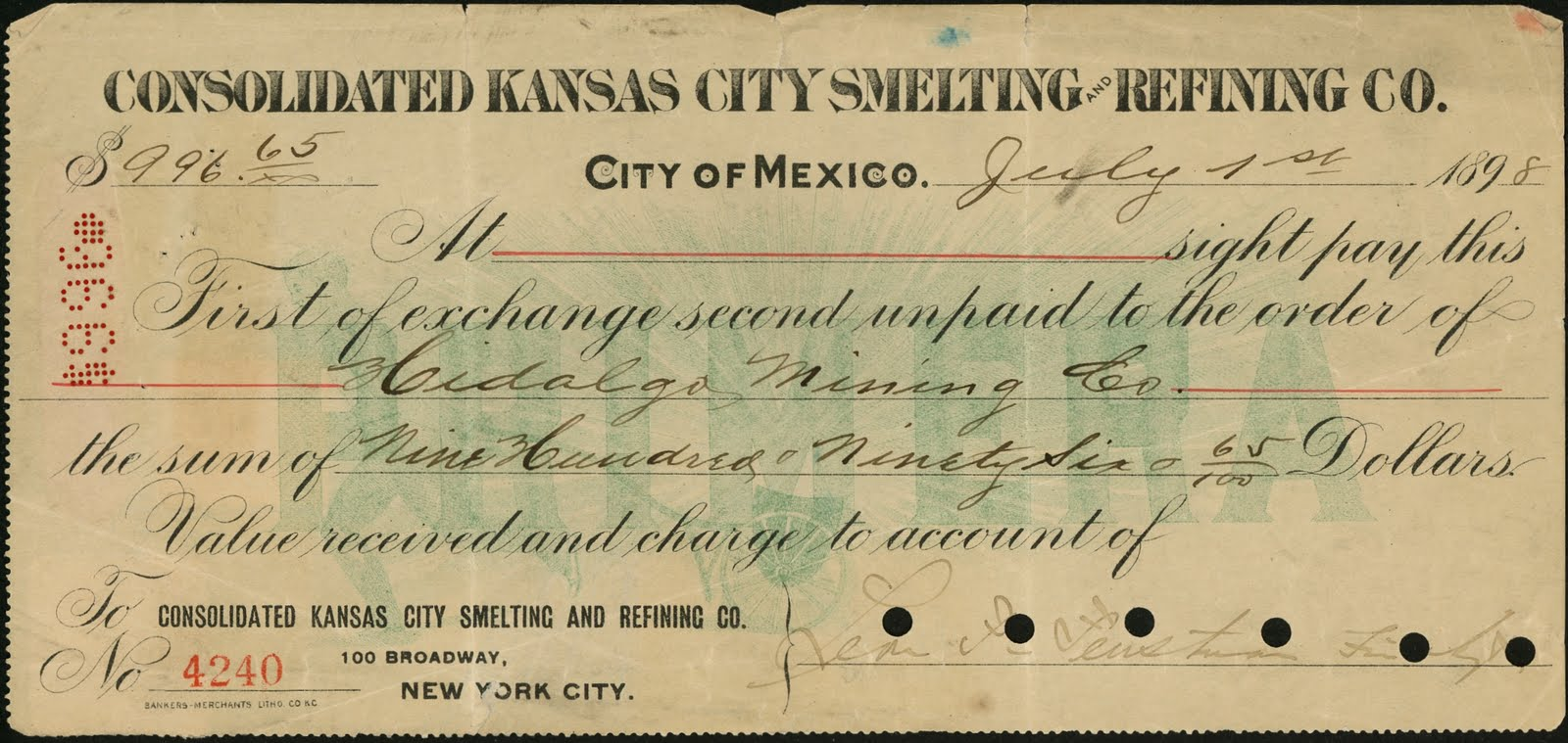 1898 revenues an incoming bill of exchange the dating formed a logical sequence as the bill was issued in mexico city and sent to new york for payment the us stamp was added by a representative thecheapjerseys Image collections