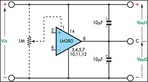 Low-cost dual power supply circuit schematic