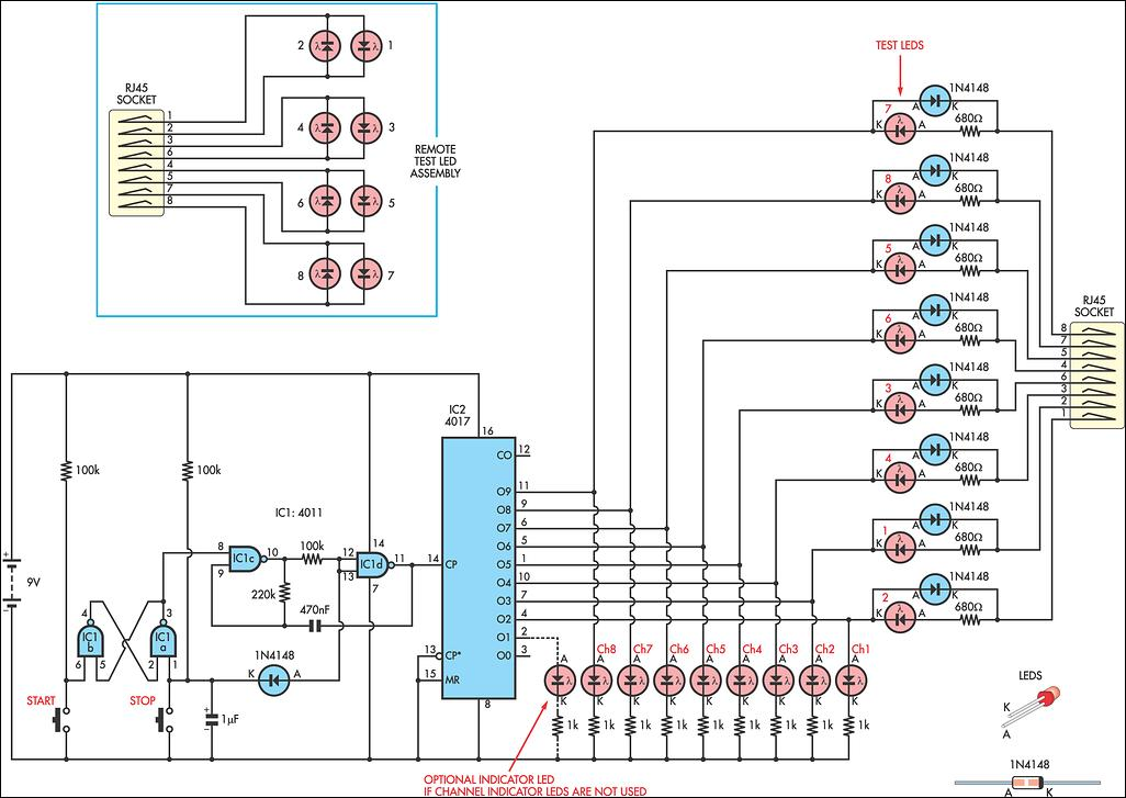 cat 5 switch wiring diagram cat automotive wiring diagrams simple cat 5 network tester circuit diagram