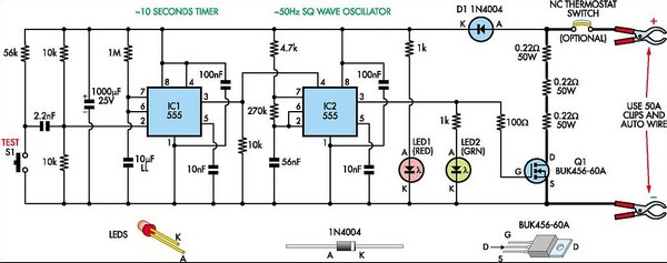 Battery Tester Schematic : Subwoffer wiring diagram internal resistance tester for