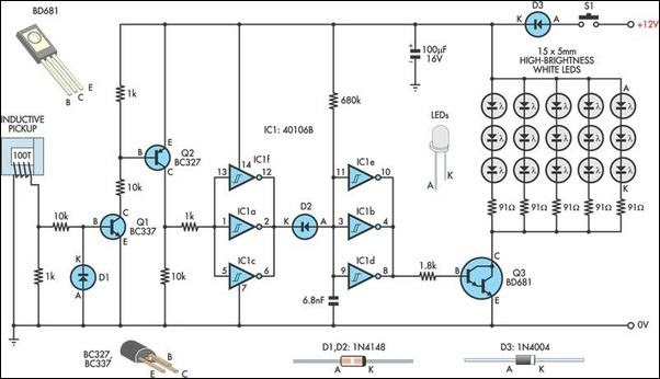 automotive led timing light wiring diagram circuit