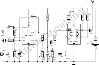 fm wireless microphone diy electronics projects, circuits diagrams wireless microphone receiver circuit diagram fm wireless microphone