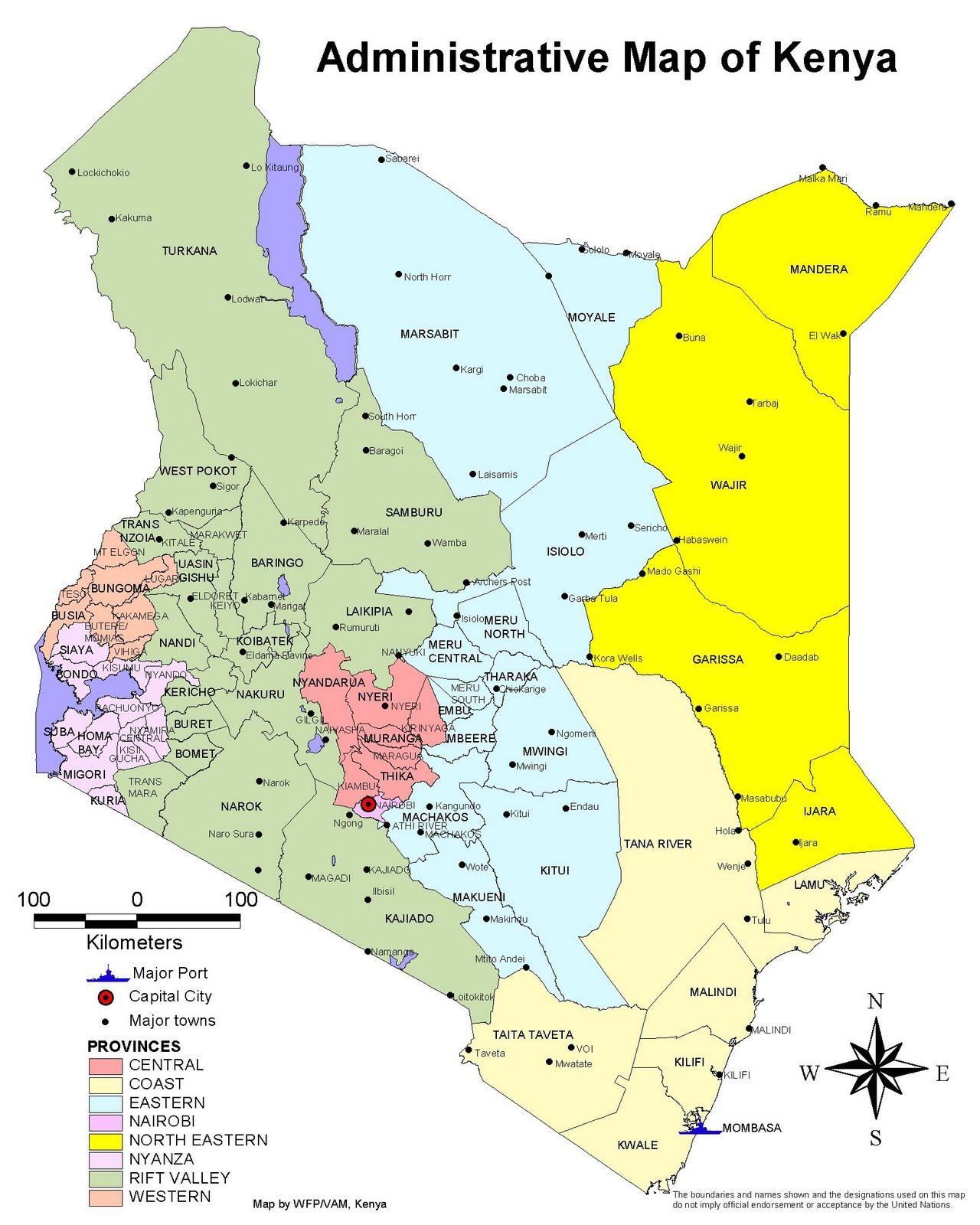 Maps of kenya a link atlas kenya gumiabroncs Images