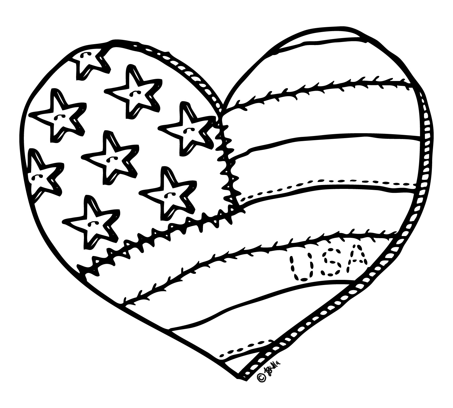 free digital stamp i heart the usa