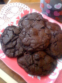 Kat's Dark Chocolate Cookies with Sour Cherries