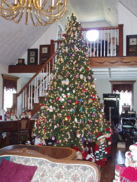 Our Ceilings Are Tall So Several Years Ago We Found This 14u0027 Tree At An  After Christmas ...