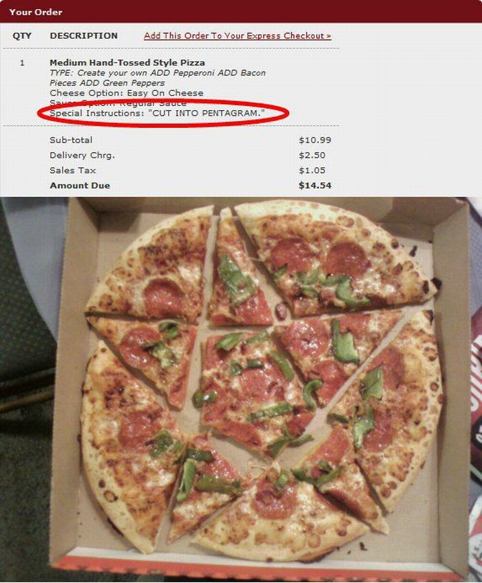 Funny Instructions By Pizza Fans Stationgossip