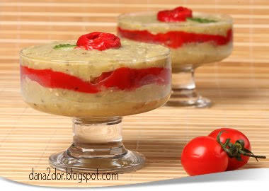 Articole culinare : Salata de vinete cu dovlecei si ardei copti
