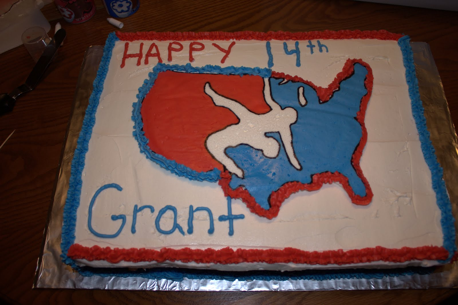 Have Your Cake Eat It Too Wrestling Birthday Cake
