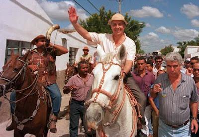 Fernando Henrique tentando a reeleição, em 1998 (foto de Roberto Stuckert Filho)