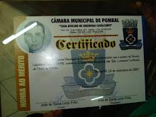 SESSÃO SOLENE DA CÃMARA MUNICIPAL DE POMBAL NO DIA 14-11-07.