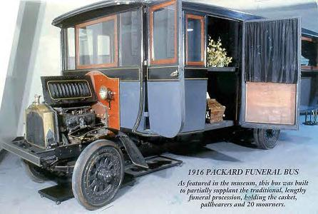 1916 Packard Funeral Bus ~