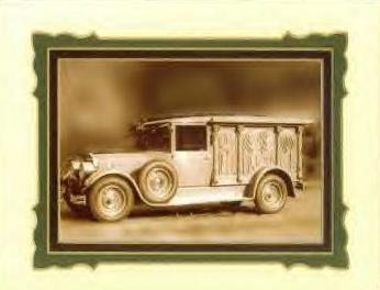 1928 Cunningham Carved Panel Hearse ~