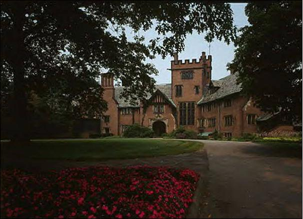 Stan Hywet Hall. The Seiberling Estate In Akron, Ohio