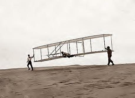 Wright Bros test flight, unpowered glider. 1902 Kitty Hawk, NC