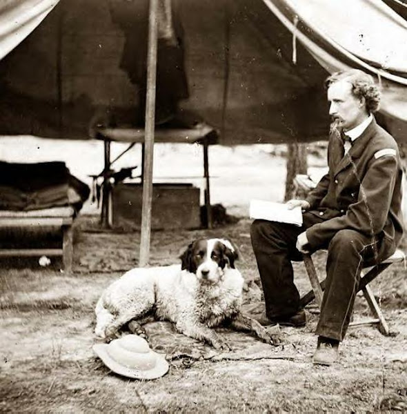 Custer with his dog in 1862