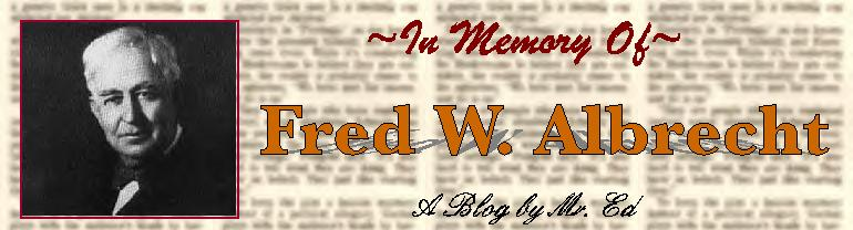 In Memory of Fred W. Albrecht