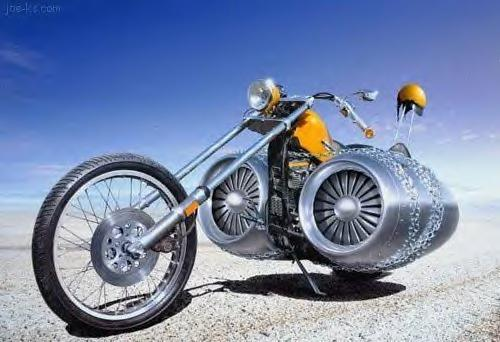 Speaking of bikers...the fastest cycle on earth