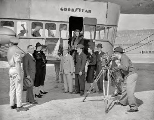 April 13, 1938. Washington, D.C. Goodyear Blimp, Golden Gate