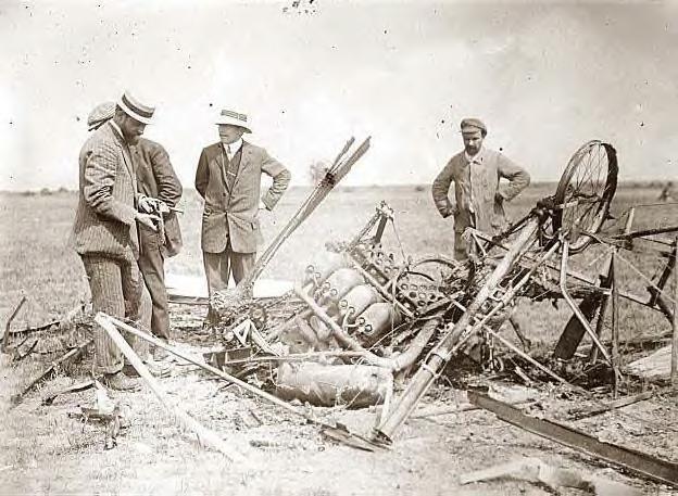 Bleriot airplane crash site at Reims