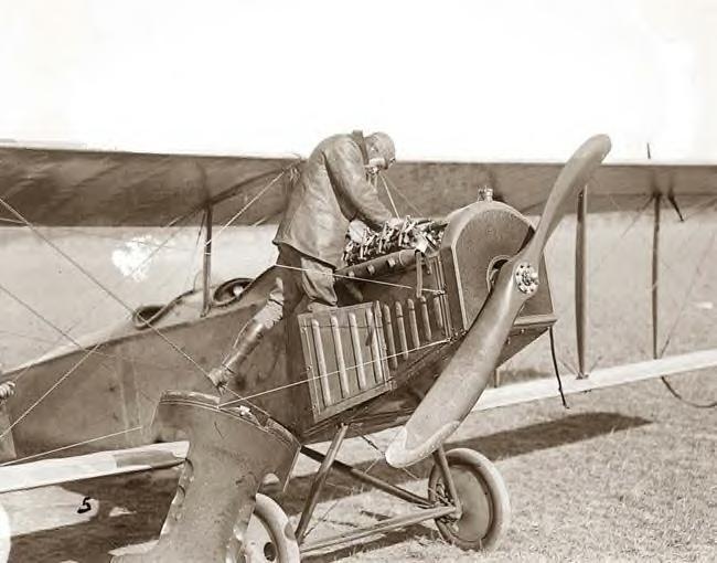 Lindley working on plane