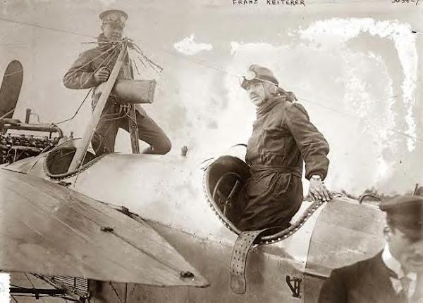 Franz Reiterer. German aviator