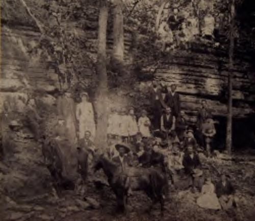 Belle Starr's wedding in the woods. Photo undated