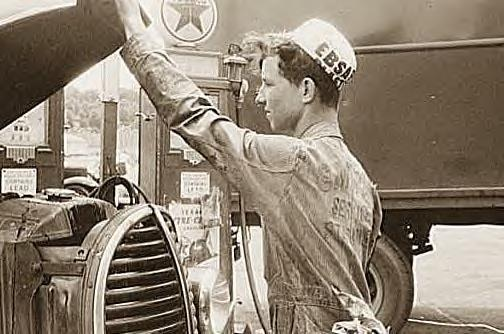 Gas Station Attendant, US 1, NY Ave., Washington DC, 1940
