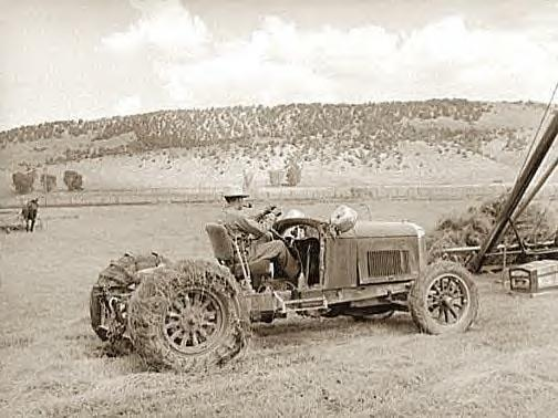 Tractor made from old Lincoln, Ouray Cty. Col., 1940