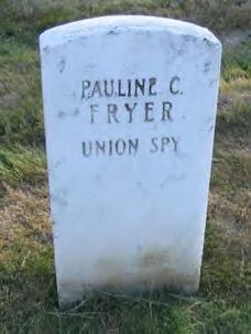 Pauline Cushman's military gravestone