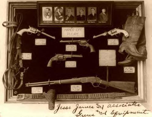 Jesse James Gang firearms & misc. items