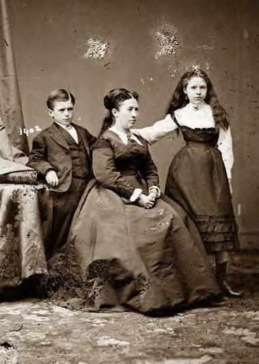 1860: Grant's wife, son buck & daughter Nellie