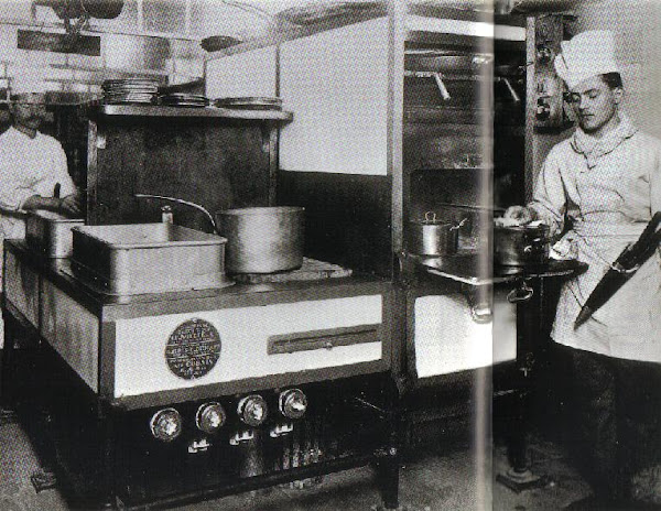 Kitchen stove in use