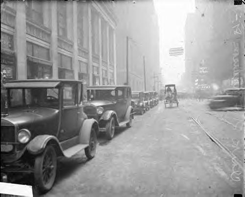 Parked Cars. 1928 Chicago