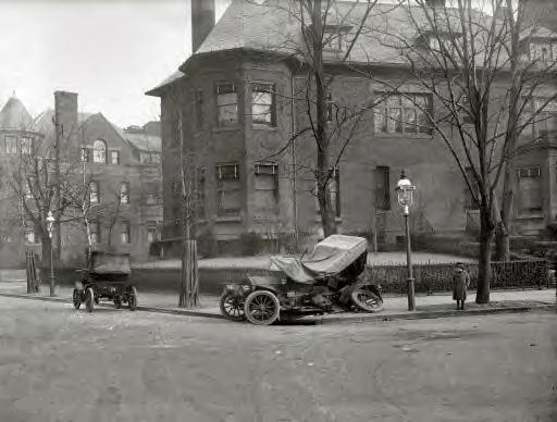 Photo-1: 1917 car wreck at Massachusetts Avenue