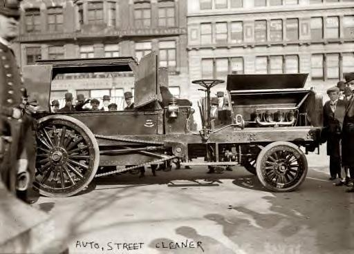 Auto Street Cleaner 1913 in New York City