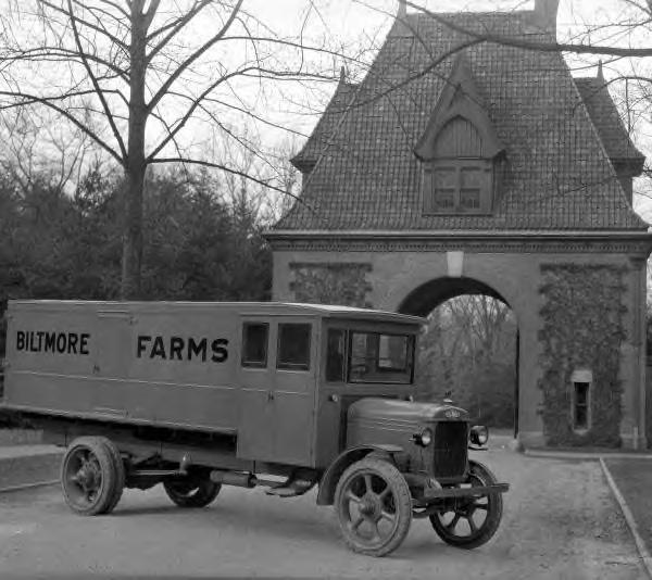 Biltmore Dairy Farms truck. 1920