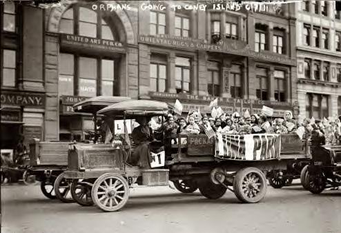 Orphans going to Coney Island (Luna Park). June 7, 1911